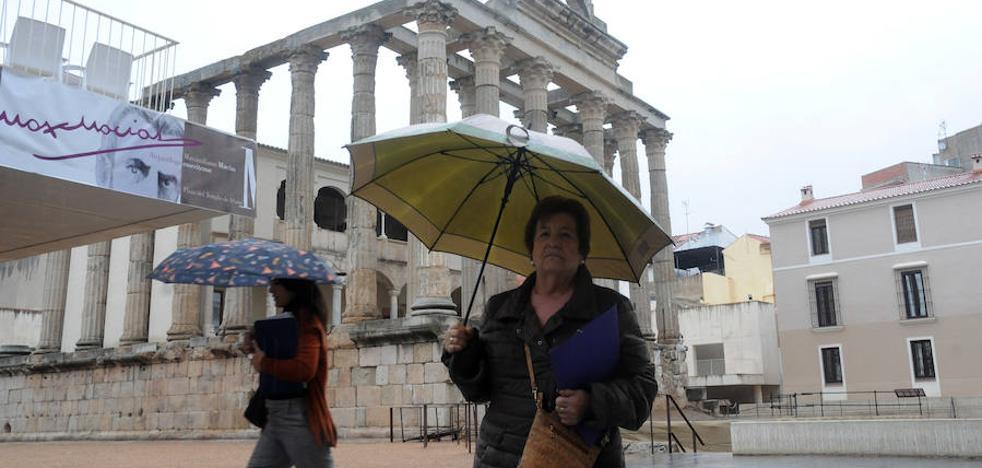 Lluvia en toda Extremadura, que espera nieve