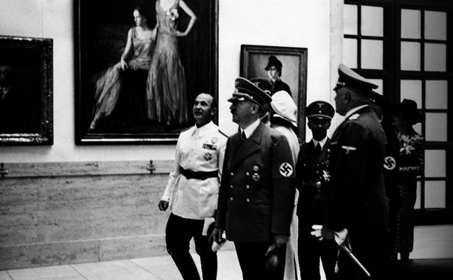 Hitler, ni en pintura