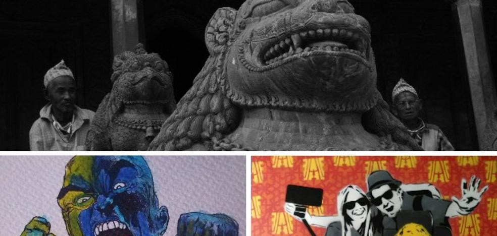 Exposición y pintura en vivo de Álex de la Fuente en Badajoz