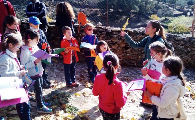 Un encuentro reúne a escolares de los pueblos de la Reserva de la Biosfera de Monfragüe