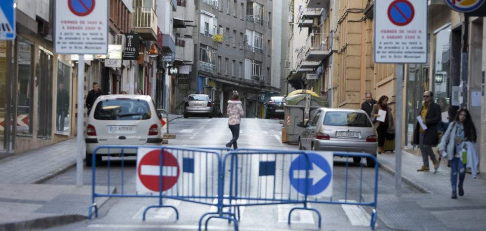Gómez Becerra es peatonal viernes y sábado a la espera de mejoras en la calle