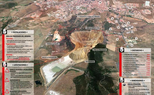 La mina de litio de Cáceres produciría un «cráter» de un kilómetro de ancho, dice la Plataforma