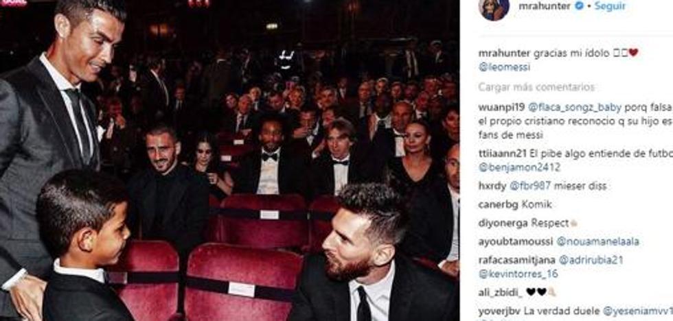 El hijo de CR7 cierra su cuenta en Instagram tras publicar una controvertida imagen junto a Messi