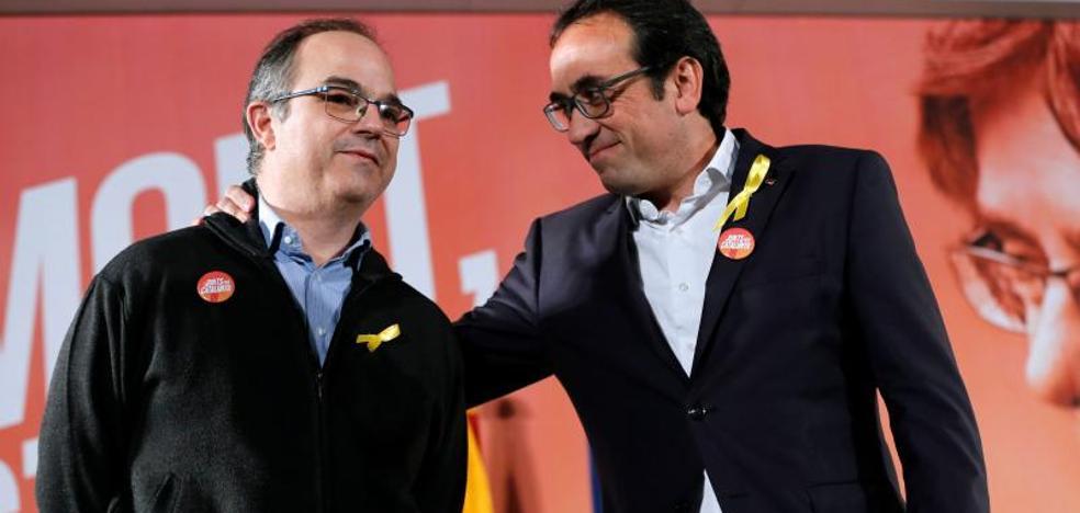 Rull y Turull se implicarán a fondo en la campaña de Junts per Catalunya para restituir a Puigdemont