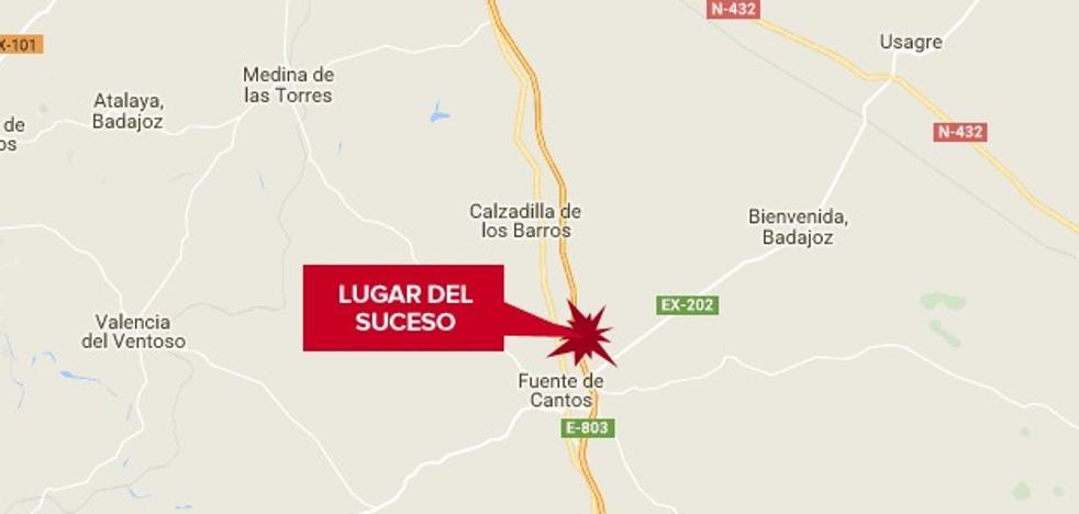 Una mujer resulta herida tras la salida y vuelco de un turismo en la A-66 cerca de Fuente de Cantos