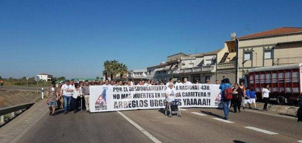 Los pueblos que piden el desdoblamiento de la N-430 anuncian una gran movilización después de Navidad