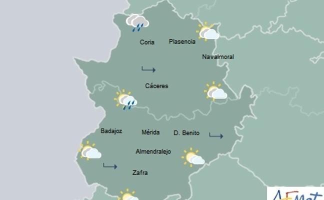Precipitaciones débiles en la región para este viernes, sobre todo en el norte