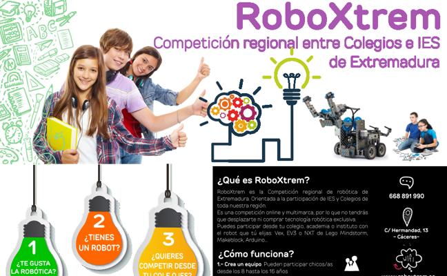 Alumnos de seis ciudades extremeñas participan en la I Liga de Robótica Regional