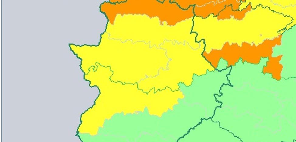 Alerta naranja por fuertes vientos en el norte extremeño este domingo
