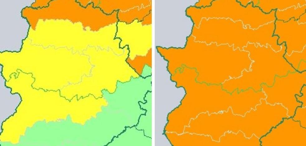 La alerta naranja por fuertes rachas de viento se amplía a toda la región el lunes