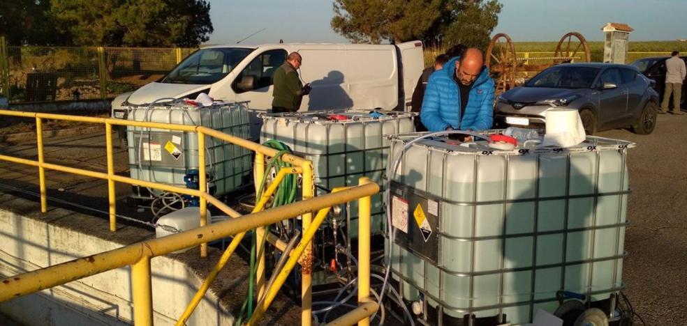 La Confederación del Guadiana aplica agua oxigenada a las tuberías con almeja asiática