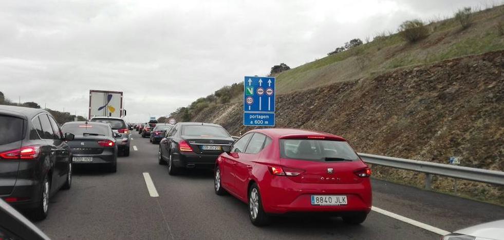 Atascos en la autopista de Elvas