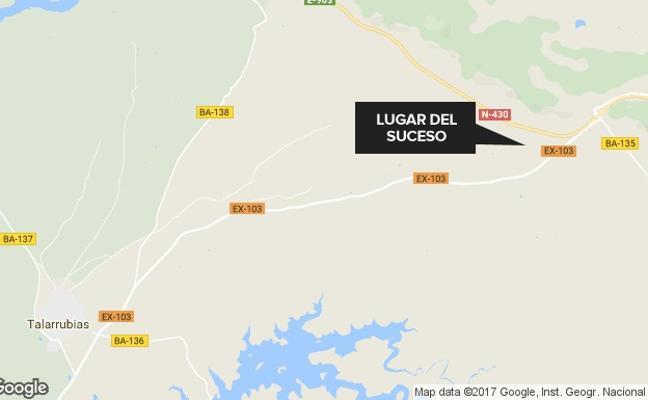 Herido grave en un accidente cerca de Talarrubias