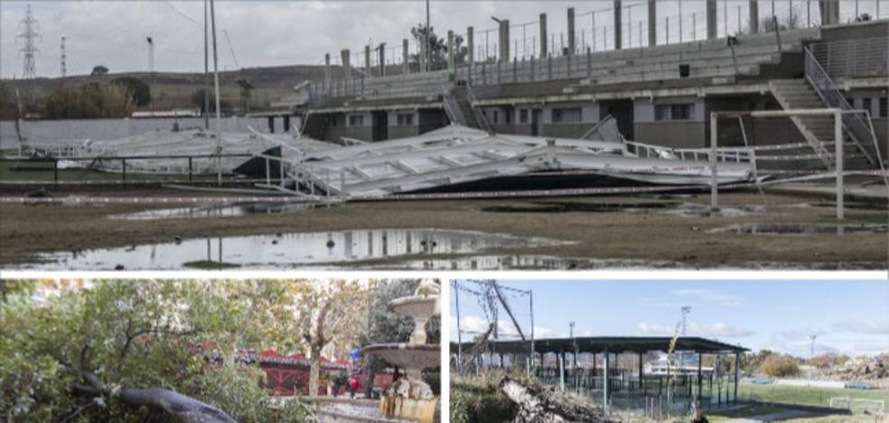 El paso de 'Ana' por Extremadura provoca un centenar de incidencias
