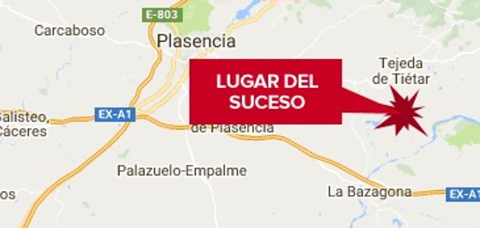 Una mujer de 52 años resulta herida leve en un accidente de tráfico en Tejeda de Tiétar