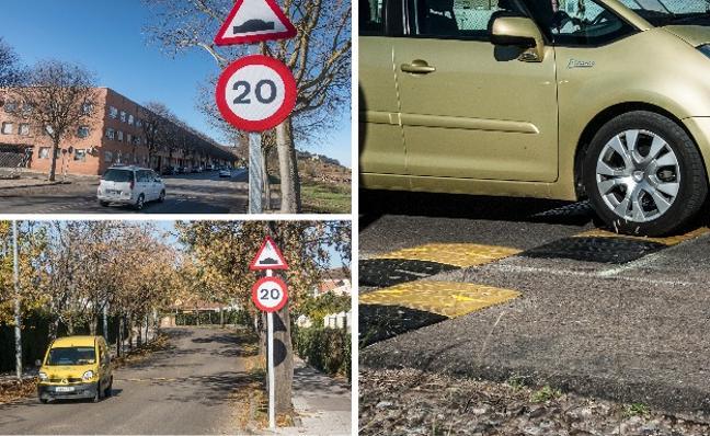 Instalan nuevos resaltes en Ronda Norte, Las Vaguadas y Carretera de la Corte