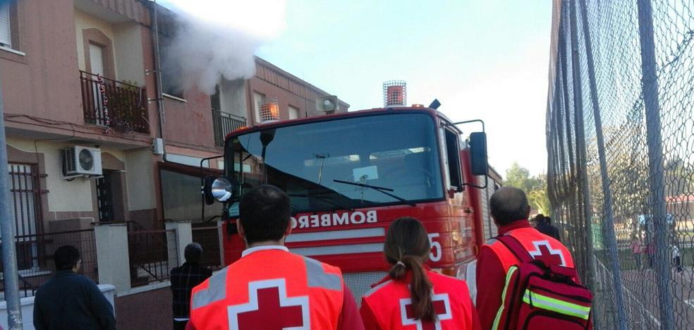 Incendio sin heridos en una vivienda del Cerro de Reyes, en Badajoz