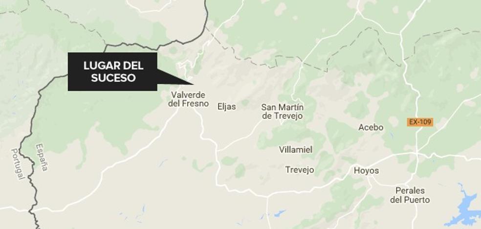 Un afectado leve en el incendio de una vivienda en Valverde del Fresno