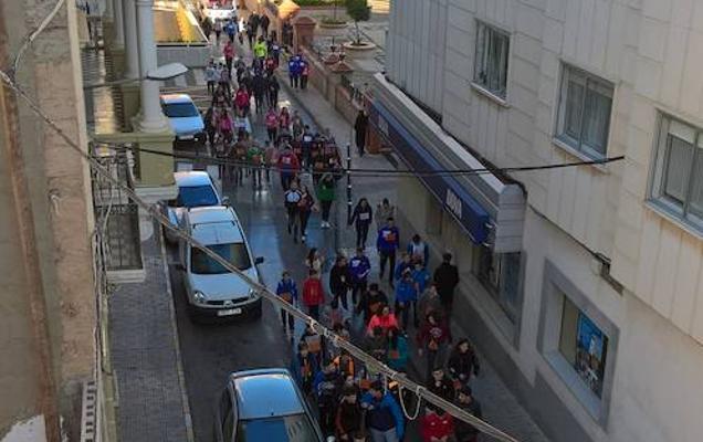 Carrera solidaria del Santiago en Almendralejo