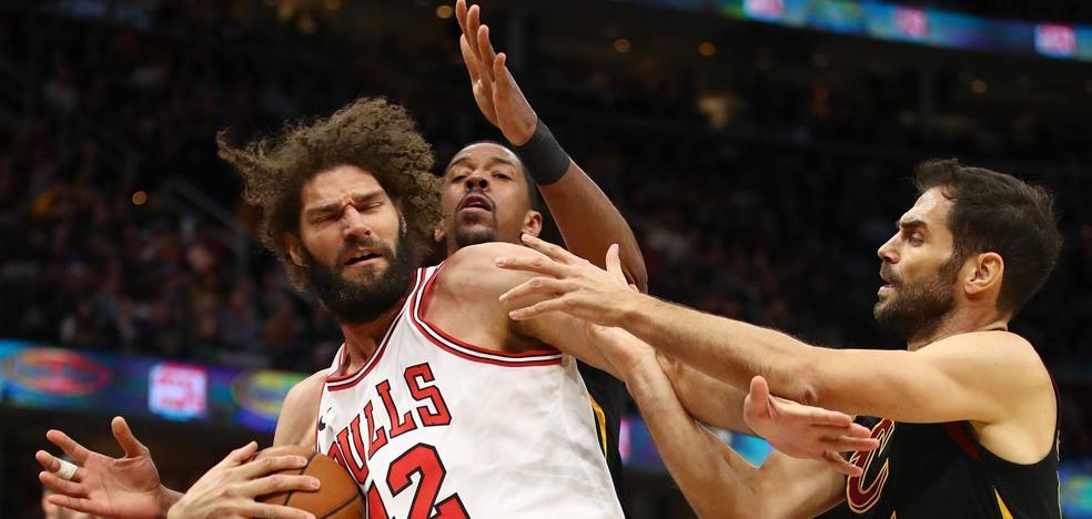 Los Cavs acaban con la racha ganadora de los Bulls con 8 puntos de Calderón