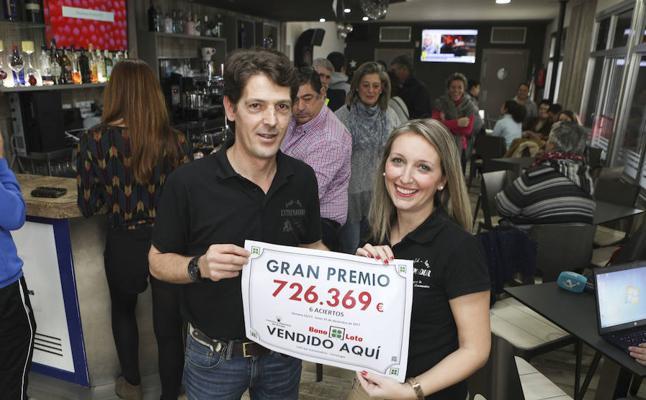 Un acertante de máxima categoría de Torreorgaz obtiene 726.369 euros en la Bonoloto