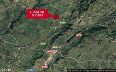 Dos heridos al salirse de la carretera una furgoneta cerca de Oliva de Plasencia