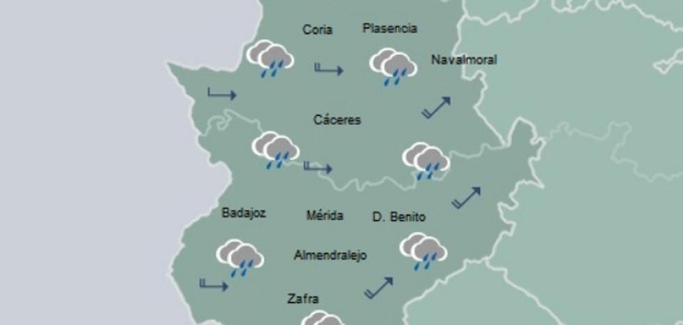 Una borrasca entrará el viernes por la mañana en Extremadura y dejará algo de nieve el sábado