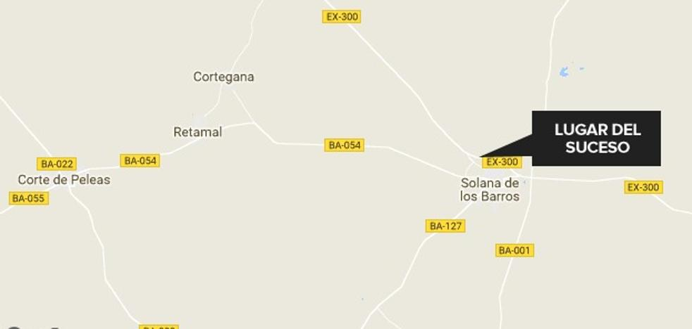 Dos heridos en un accidente de tráfico cerca de Solana de los Barros
