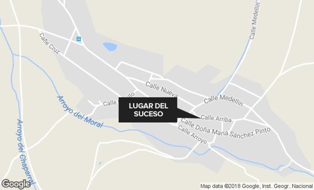 Herida con quemaduras de segundo grado en un accidente con un brasero en Manchita