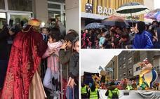 Los Reyes Magos salen en Badajoz entre chubasqueros y paraguas