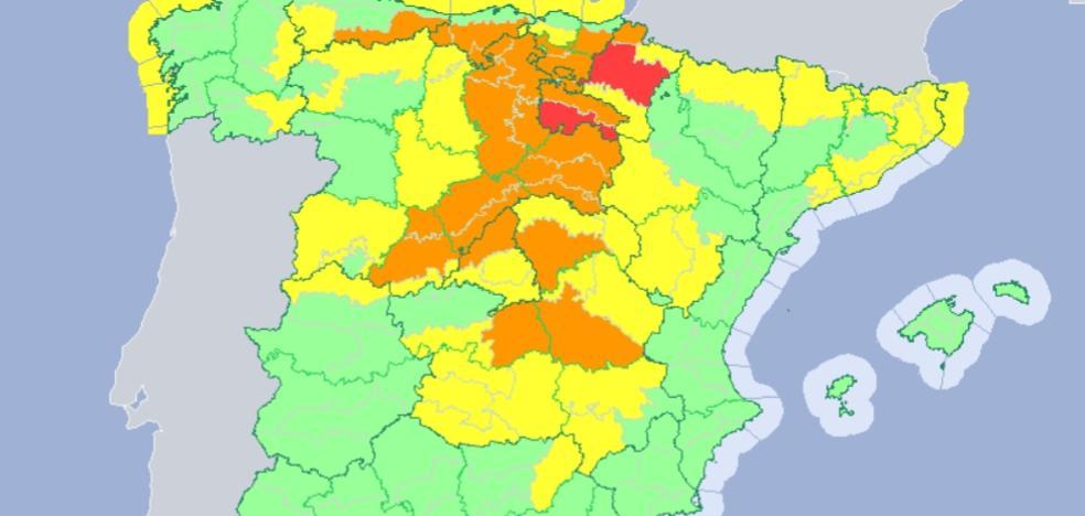El norte de Extremadura estará este domingo en alerta amarilla por nieve