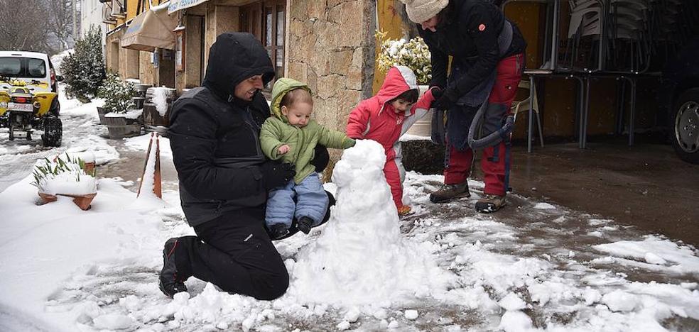La nieve llega a Extremadura