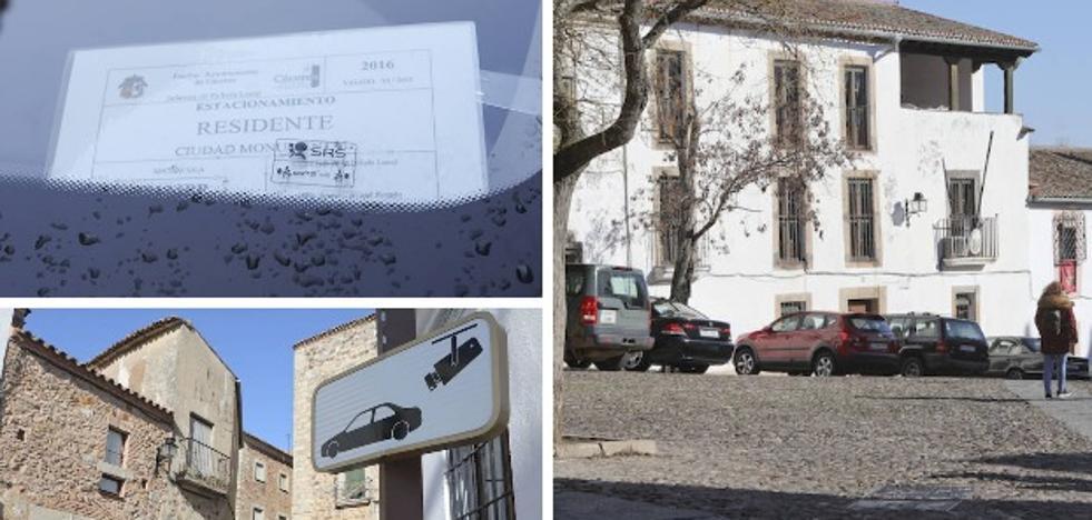 La Policía prorroga el permiso para aparcar en la parte antigua de Cáceres a los vecinos