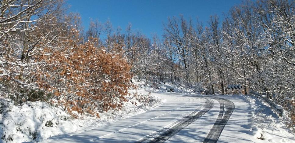 Los alumnos del norte de Cáceres afectados por la nieve vuelven a clase