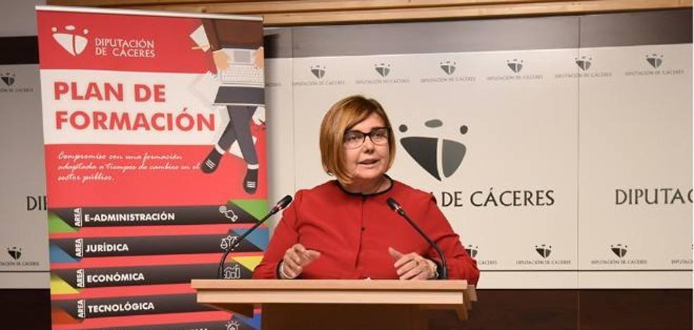2.152 empleados públicos se formarán en cursos de la Diputación de Cáceres