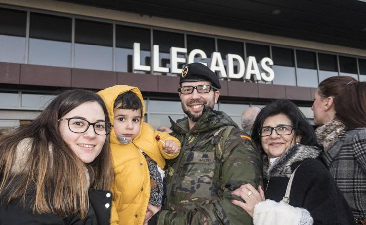 Los primeros 170 militares regresan de Letonia