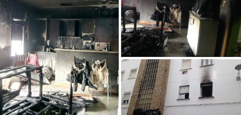 Cuatro personas intoxicadas por inhalación de humo en un incendio en Mérida