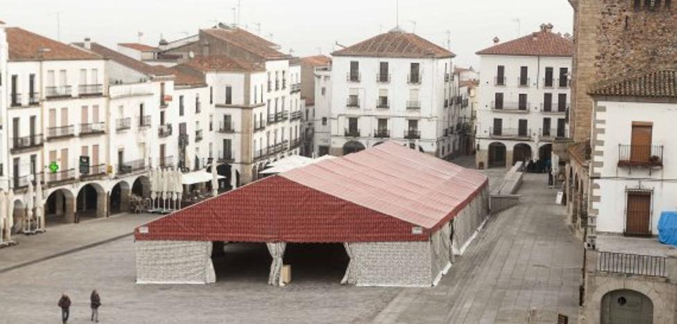 La carpa municipal para el carnaval de Cáceres se instalará en la Plaza Mayor del 9 al 11 de febrero