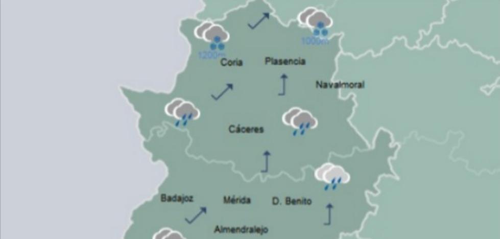 Extremadura será una de las regiones más lluviosas este fin de semana
