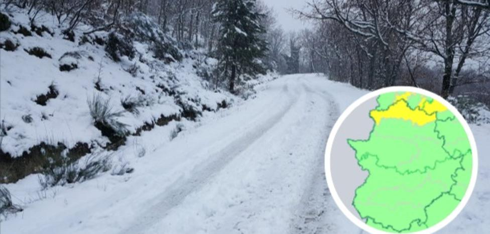 La alerta por nevadas regresa mañana al norte extremeño