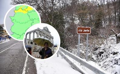 Alerta amarilla por nevadas en el norte de Cáceres y lluvia en toda Extremadura para hoy