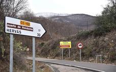 Cuatro carreteras cerradas en el norte de Cáceres por nieve