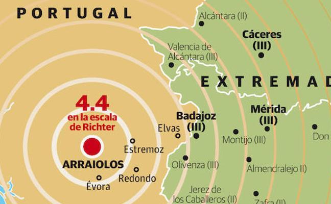 El terremoto con epicentro cerca de Évora ha tenido hasta ocho réplicas