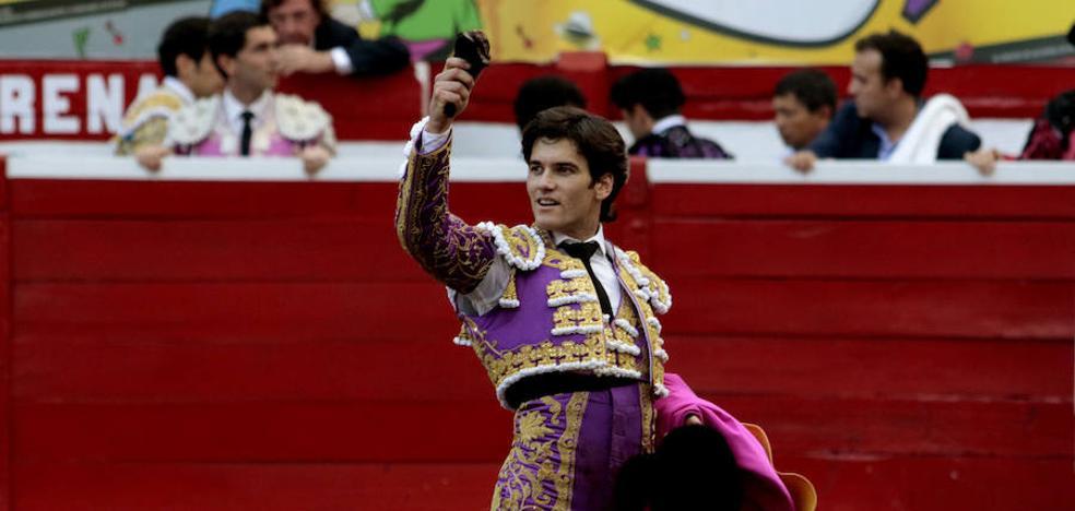 Una oreja para el extremeño José Garrido en la Monumental de México