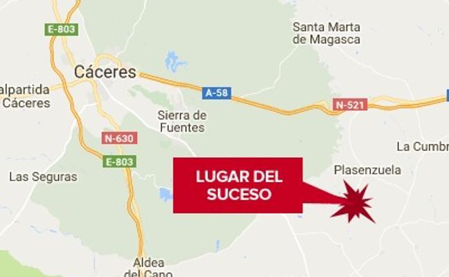 Herida una mujer de 43 años tras caerse de un caballo en Plasenzuela