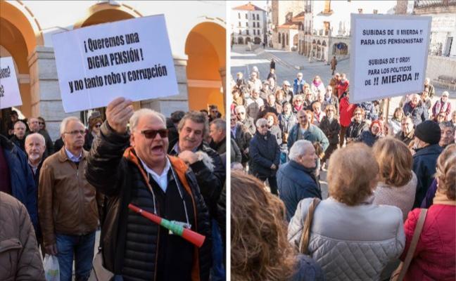 Jubilados extremeños reclaman una mayor subida de las pensiones