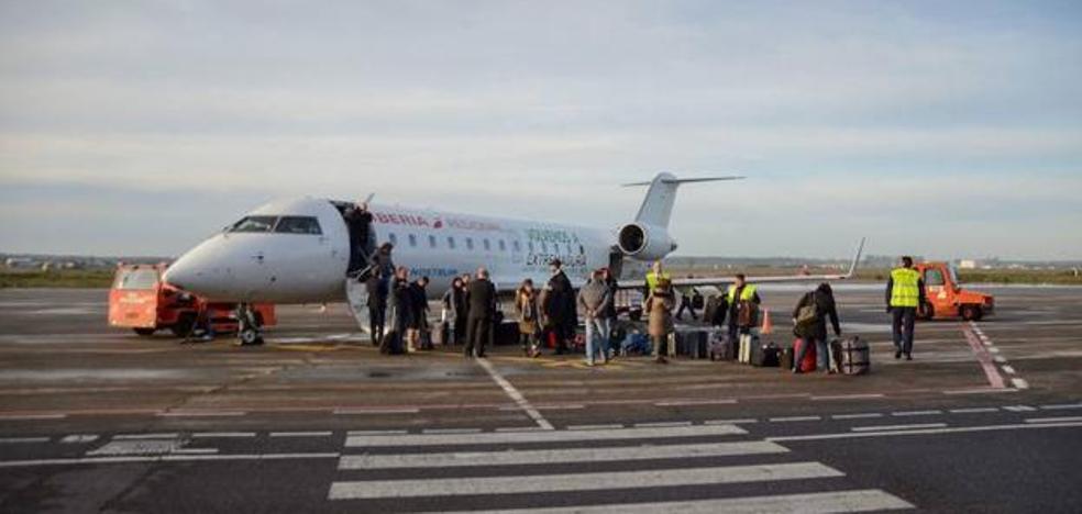 El aeropuerto de Badajoz se quedará sin vuelos al menos dos días