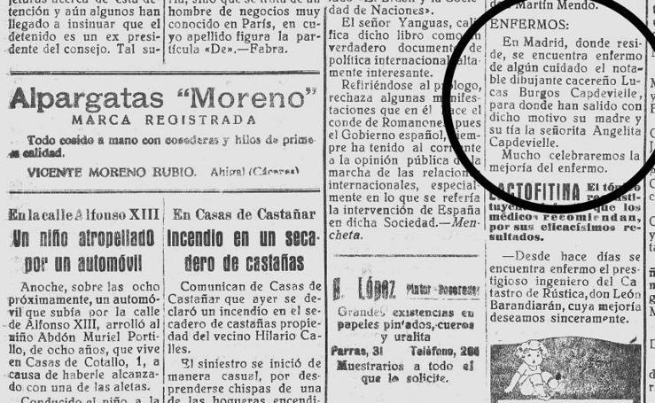 La misteriosa caricatura de Burgos Capdevielle