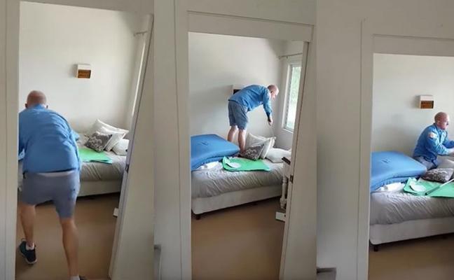 Lagarto bajo la cama