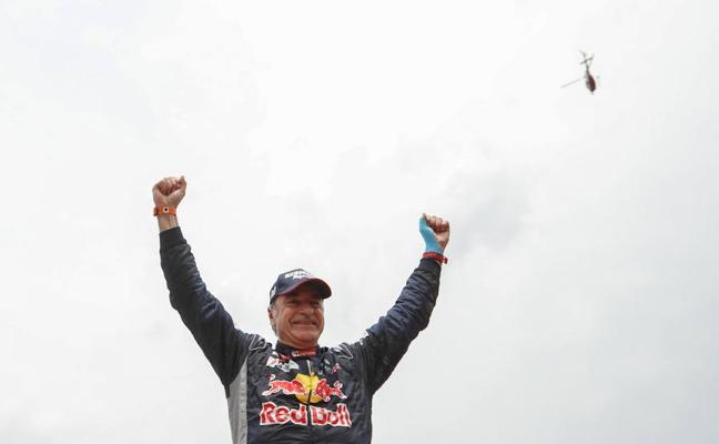 Carlos Sainz, bicampeón del Dakar